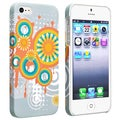BasAcc Flower Rear Style 65 Rubber Coated Case for Apple iPhone 5