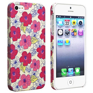 BasAcc Flower Rear Style 58 Rubber Coated Case for Apple iPhone 5