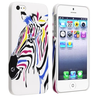 BasAcc Colorful Horses Rear Rubber Coated Case for Apple iPhone 5