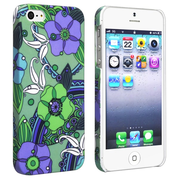 BasAcc Flower Rear Style 25 Rubber Coated Case for Apple iPhone 5/ 5S