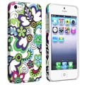 BasAcc Flower Rear Style 24 Rubber Coated Case for Apple iPhone 5