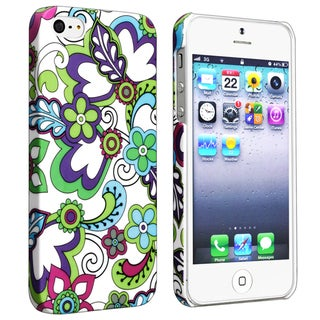 BasAcc Flower Rear Style 24 Rubber Coated Case for Apple iPhone 5/ 5S