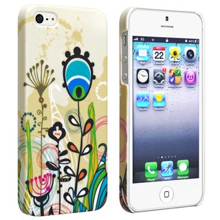 BasAcc Flower Rear Style 22 Rubber Coated Case for Apple iPhone 5
