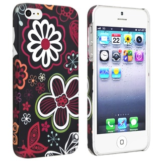 BasAcc Flower Rear Style 21 Rubber Coated Case for Apple iPhone 5/ 5S