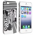BasAcc White/ Black Zebra Head Rubber Coated Case for Apple iPhone 5/ 5S