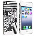 BasAcc White/ Black Zebra Head Rubber Coated Case for Apple iPhone 5