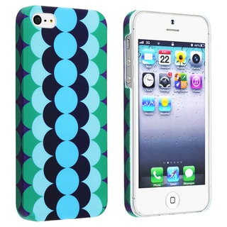 INSTEN Flower Style 67 Snap-on Rubber Coated Case Cover for Apple iPhone 5