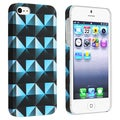 BasAcc Diamond Pattern Rear Rubber Coated Case for Apple iPhone 5