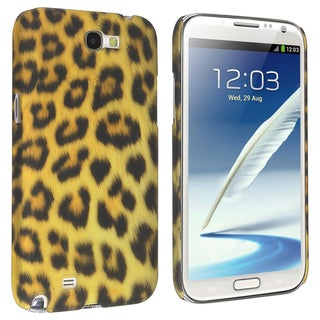 BasAcc Leopard Rubber Coated Case for Samsung Galaxy Note II N7100