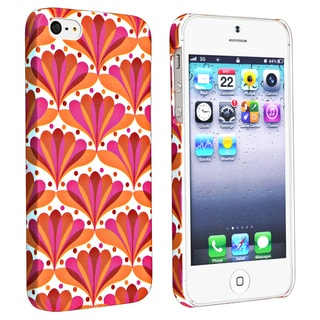 BasAcc Flower Style 66 Snap-on Rubber Coated Case for Apple iPhone 5/ 5S