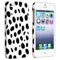 BasAcc White/ Black Dots Snap-on Rubber Coated Case for Apple iPhone 5