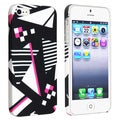 BasAcc Geometric Rear Snap-on Rubber Coated Case for Apple iPhone 5/ 5S