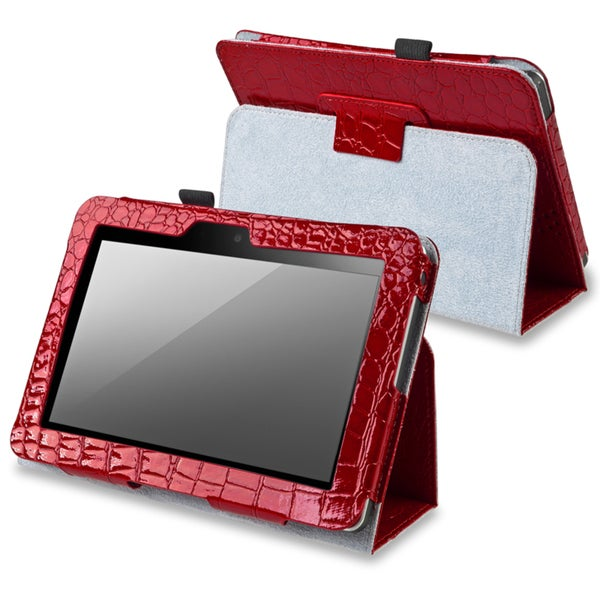 BasAcc Red Leather Case with Stand for Amazon Kindle Fire 7-inch