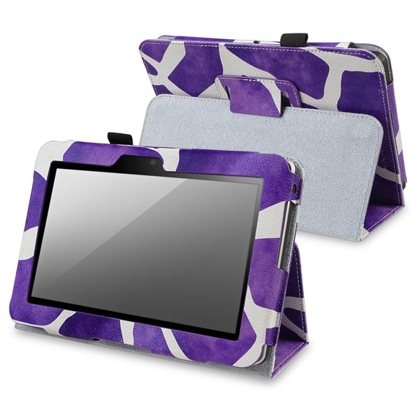 INSTEN Purple Leather Phone Case Cover with Stand for Amazon Kindle Fire HD 7-inch