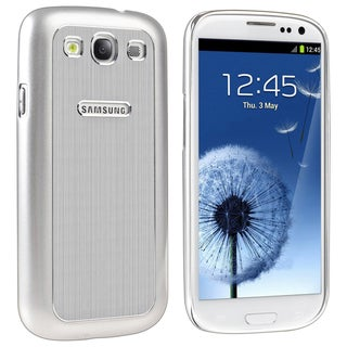 BasAcc Silver Aluminum Snap-on Case for Samsung© Galaxy SIII / S3