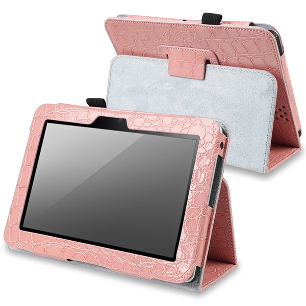 BasAcc Pink Leather Case with Stand for Amazon Kindle Fire 7-inch
