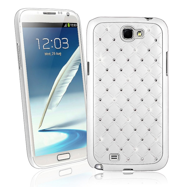 BasAcc White Diamond Snap-on Case for Samsung© Galaxy Note II N7100