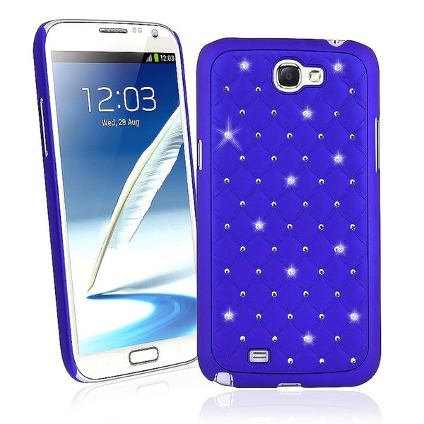 BasAcc Blue Diamond Snap-on Case for Samsung© Galaxy Note II N7100