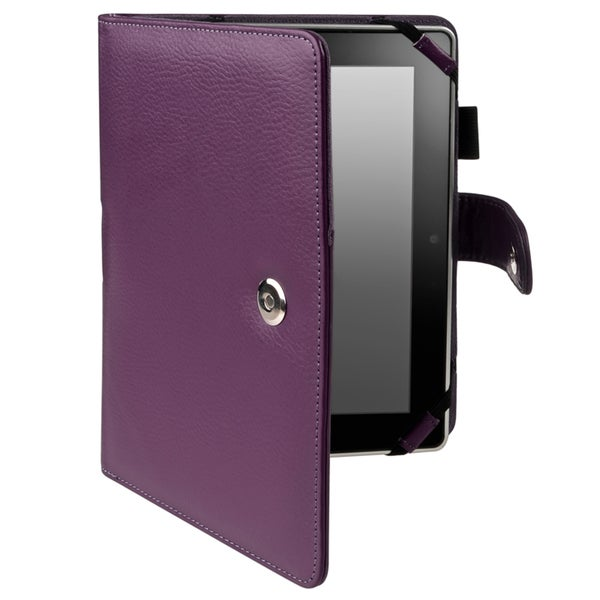 BasAcc Purple Leather Case for Amazon Kindle Fire HD 8.9-inch