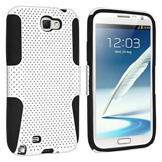BasAcc Black/ White Hybrid Case for Samsung� Galaxy Note II N7100