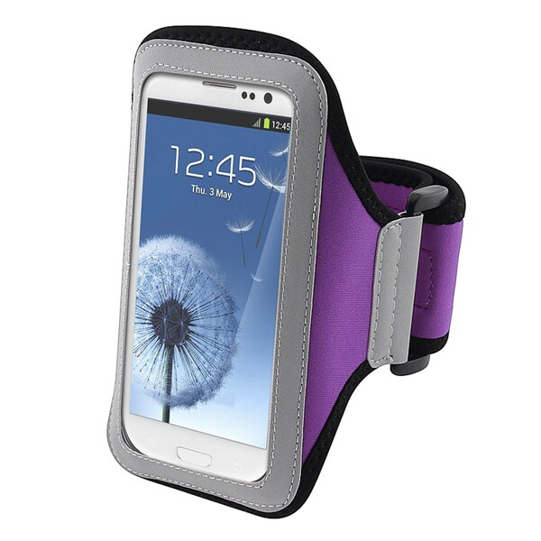 INSTEN Purple Armband for Samsung Galaxy SIII / S3