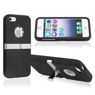 BasAcc Black with Chrome Stand Snap-on Case for Apple� iPhone 5/ 5S