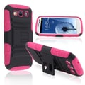 BasAcc Pink/ Black Hybrid Case with Stand for Samsung Galaxy SIII/ S3