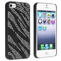 BasAcc Black/ White Zebra Bling Snap-on Case for Apple iPhone 5