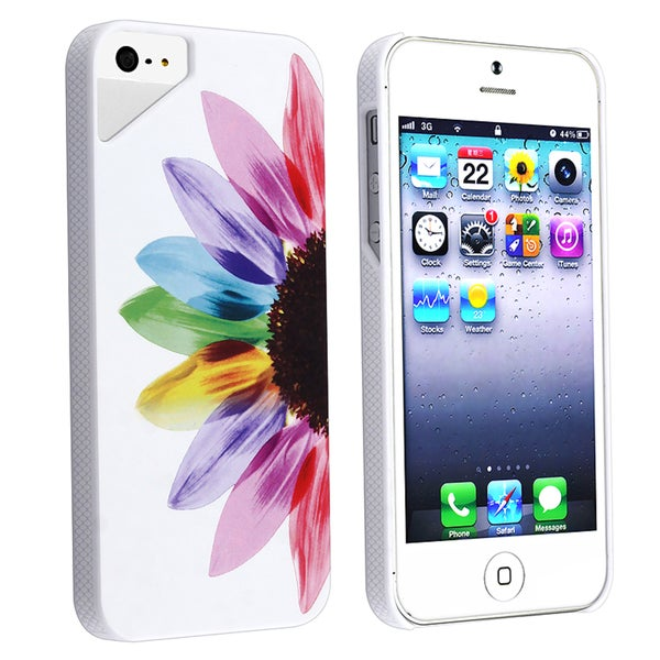 INSTEN Sunrise Rear UV Snap-on Phone Case Cover for Apple iPhone 5/ 5S
