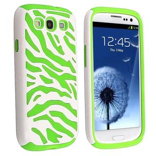 BasAcc Neon Green/ White Hybrid Case for Samsung� Galaxy SIII/ S3