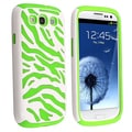 BasAcc Neon Green/ White Hybrid Case for Samsung Galaxy SIII/ S3