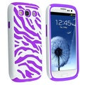 BasAcc Purple/ White Hybrid Case for Samsung Galaxy SIII/ S3