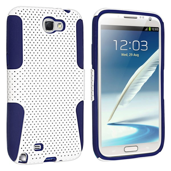 BasAcc Blue/ White Hybrid Case for Samsung© Galaxy Note II N7100