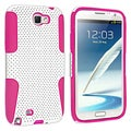 BasAcc Hot Pink/ White Hybrid Case for Samsung Galaxy Note II N7100