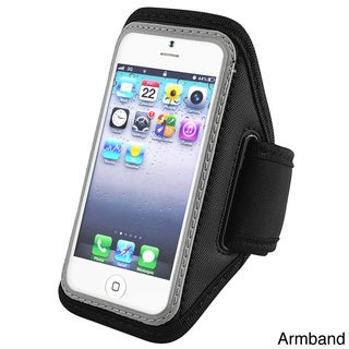 BasAcc Silver Deluxe ArmBand for Apple? iPhone 5/ iPod