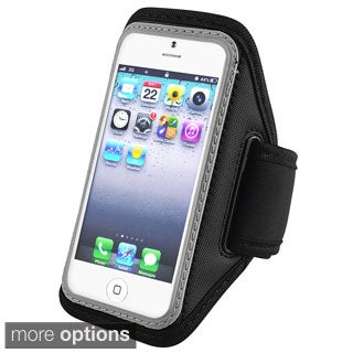 INSTEN Silver Deluxe ArmBand for Apple iPhone 5/ iPod