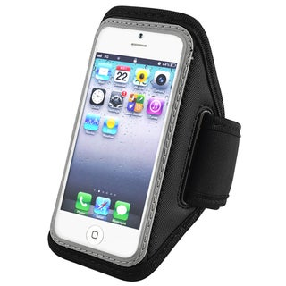 BasAcc Silver Deluxe ArmBand for Apple� iPhone 5/ iPod