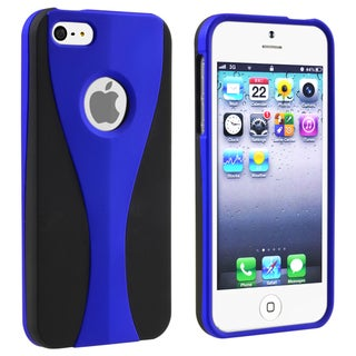 BasAcc Dark Blue/ Black Cup Shape Snap-on Case for Apple� iPhone 5