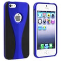 BasAcc Dark Blue/ Black Cup Shape Snap-on Case for Apple iPhone 5