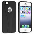 BasAcc Black/ Black Cup Shape Snap-on Case for Apple� iPhone 5