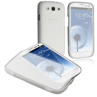 INSTEN Clear White TPU Rubber Skin Case Cover for Samsung Galaxy SIII / S3