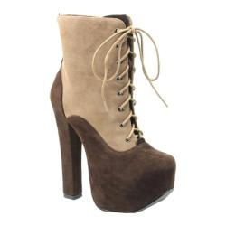 Women's Luichiny Ber Linn Camel/Dark Brown Imi Suede