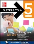 5 Steps to a 5 AP English Language 2014-2015 (Paperback)