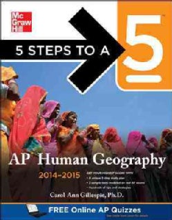 5 Steps to a 5 Ap Human Geography 2014-2015 (Paperback)