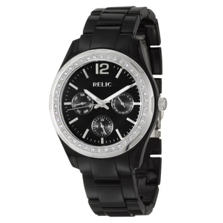 Relic by Fossil Women's Black Stainless-Steel 'Starla' Watch