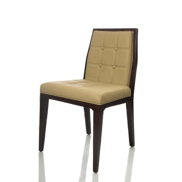 Venice Modern Bicast Leather Dining Chairs (set of 2)