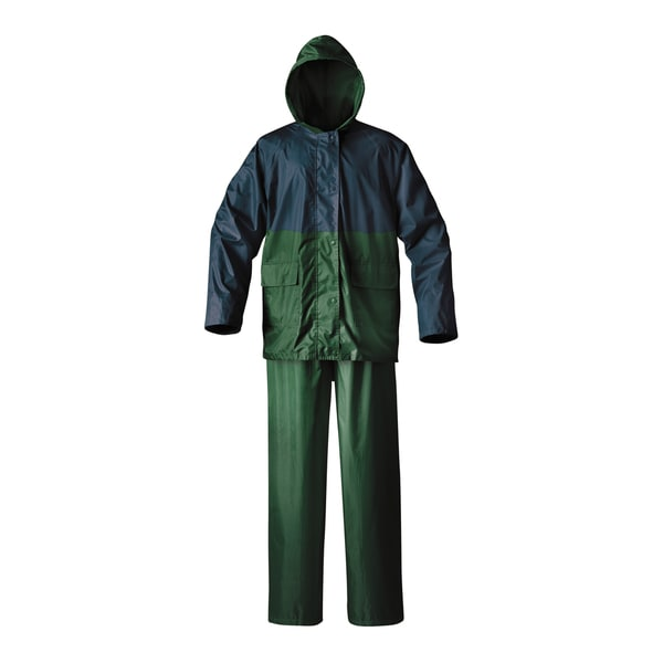 Cedar Keys Blue/Green Explorer 2-piece Rain Suit