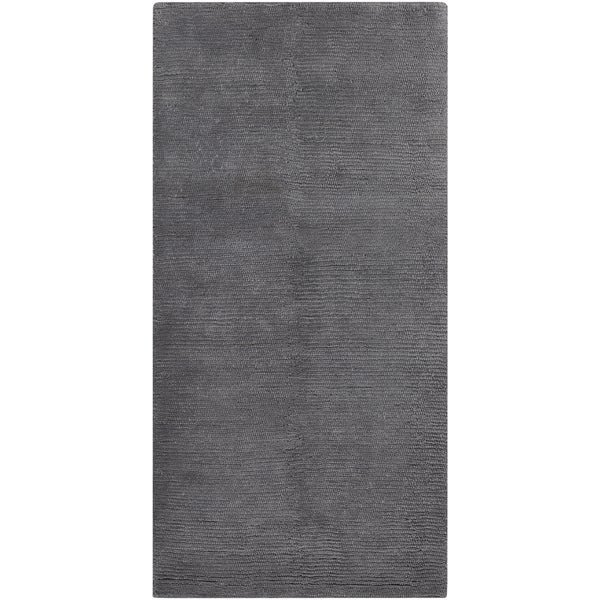 Handwoven Boden Dove Gray Plush Shag New Zealand Wool Rug-(2'6 x 8')