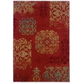 "Arabesque Filigree Bronze Area Rug 5'3"" x 7'6"""