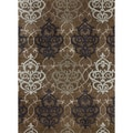Hand-tufted Lionel Brown Wool Rug (3'6X5'6)